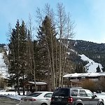 We were on the first floor and still had a great view of the ski slopes from our room.