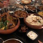 Biryani with lamb ribs and curries