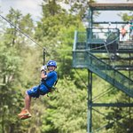 Bigfoot Zipline #3 of 7 Ziplines, 4 Water Xings, 2 Dble Race Lines, 1 Shore & 1 Island Landing.
