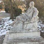 Emil Jakob Schindler statue at Stadtpark