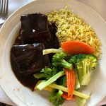 Gorgeous day...Short ribs and organic chicken dish were delicious!