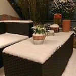 Bed & Breakfast Cologne Filzengraben - Terrasse an einem Winter Abend