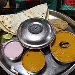 Surmai thali with rice bhakri