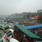 A congested view of the Ghat.