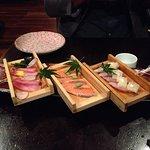 Fatty Sashimi Platter ($28) : Tuna, Salmon, Kingfish