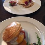 eggs benny and lemon curd pancake!