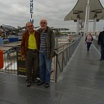 My friend and I on the walkway between Tupolev and Concorde -
