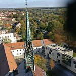 Blick vom Kirchturm halbe Höhe