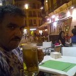 In a bar in plaza de Constitucion