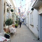 Cathedral Close, with Beatrix Potter shop nearest on right