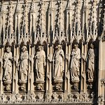 Sculpted figures above the main cathedral entrance