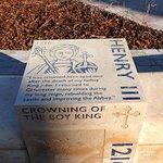 "Henry III ""Standing Stone"" in the front garden area"