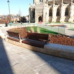 New Landscaped area at the cathedral front