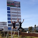 Participant Uganda Runners Experience celebrating to reach National High Altitude Training Cente