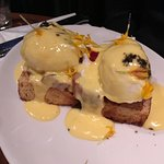 Bennie's Eggs - poached eggs, brioche, pork belly