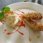 Banana fritters with palm sugar ice cream