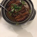 Taro and braised pork hot pot