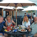 Great dinner with friends on the deck