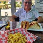 BLT Club sandwich +Fries