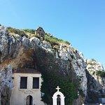 Монастырь фактически вырублен в скале