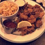 I can't remember the name of the dish, but there's fried catfish, oysters, and shrimp