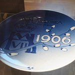 plate in china cabinet