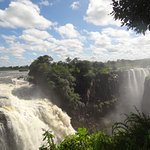 VICTORIA FALLS seen from the walking tour. Exciting views at every tuin make this a great tour.