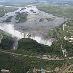 VICTORIA FALLS, seen from helicopter. If you can afford it, this is the BEST way to see the Fall