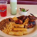 Half Chicken Plate with Yuca & Green Sauce