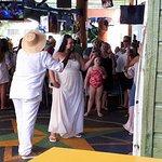 Random couple getting married at Margaritaville.