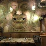 Wall art in restaurant