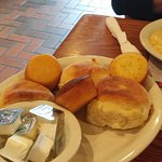 Biscuits and buns on the side
