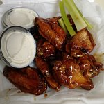 Great wings and NOT MUCH CELERY!