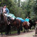 Riders bringing provisions to the La Junta camping