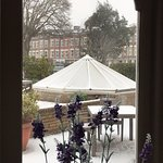 View from the restaurant on 1.3.2018, first snow in Bournemouth in ages!