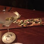Our nice Shortrib Flatbread and Martinis...