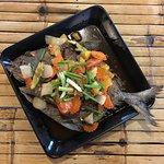 flounder in tamarind sauce