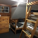 Youth type accommodation, with bunk beds. This room can fit 5 persons.