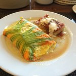 omelette with squash blossoms