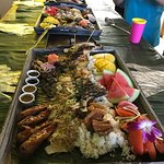 Boodle Fight excellent choice for family and friends max of  4 people or more,  eating with bare