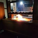 Oak wood open grill