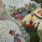 One small section of the garden behind the house. Everywhere you walk there are beautiful mosaic