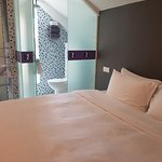 Suite with Terrace: View of the Bed & Bathroom