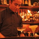 The barman mixing cocktails