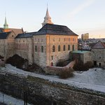 Akershus Castle and Fortress, Oslo,Norway. Taken from top decks of cruise ship (12/12/17)