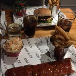 Half Rack Ribs with Chips and Coleslaw