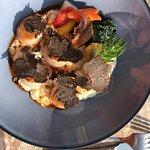 L'excellent risotto crémeux saint jacques aux truffes