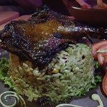 duck with creamy cilantro rice