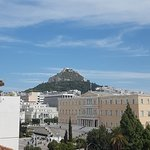 View of Mount Lycabettus from room 508.