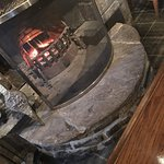 Nice warm real fire in the bar area